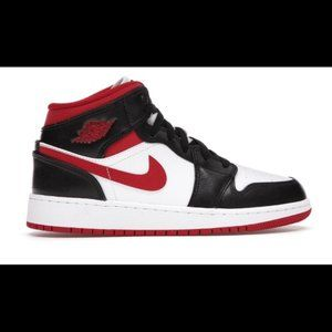 Nike Air Jordan 1 Mid GS Gym Red Black White 2021